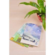 Material de papelaria da escola Papel personalizado Notebook com composição forrada