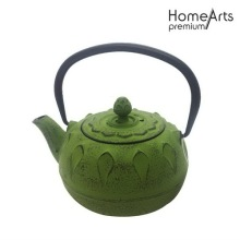 Lotus design cast iron tetsubin teapot kettle