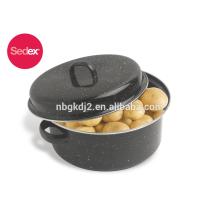 Corea asadera de esmalte de venta caliente con parrilla