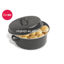 Korea hot sale enamel roasting pan with grill