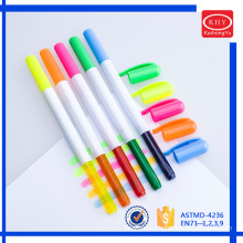 Non-toxic wax material with multi-colors promotional solid highlighter