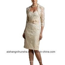 Frauen-Spitze-Mantel-Sleeveless Abend-Partei-Abschlussball-Kleid