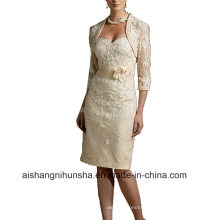 Women Lace Sheath Sleeveless Evening Party Prom Dress