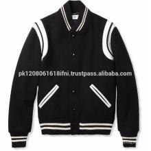 panel design custom made fashion baseball warm jacket