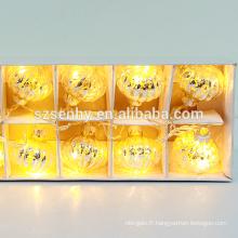 rebondissant led éclaire des boules de Noël avec une lumière clignotante