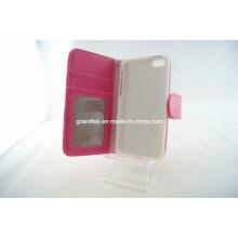 Fundas de la cartera de la PU del cuero de la nueva bolsa del producto para iPhone5c, cajas del teléfono móvil (RAIN-20130914-01)