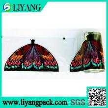 Borboleta belamente colorida, filme de transferência de calor para a cabeça da vassoura
