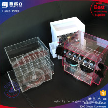 China Fertigung Customized Acryl Lippenstift Tower Spinning