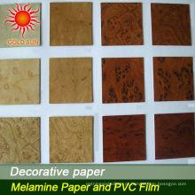 papel laminado decorativo da grão de madeira quente da venda para o revestimento