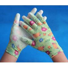 Chine bonnes gants nylon bon marché avec pu