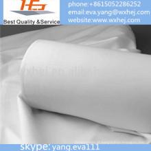 Tela branca por atacado da folha de cama do tecido do poliéster da fábrica