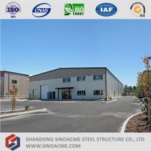 Prefab estructura de acero ligero Edificio de oficinas con almacenamiento