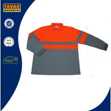 Mens Long Sleeve Polo-Shirt, Großhandel Custom 100 % Baumwolle