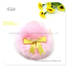 Pink Loose Powder Puff With Butterfly Ribbon