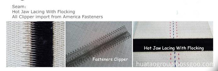 Corrugated belt seam
