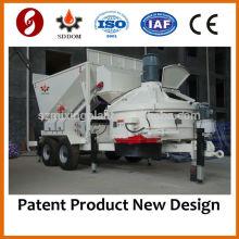 MB1200 Small Mobile Concrete Batching Plantas com roda, 10-16m3 / h, como o Fibo