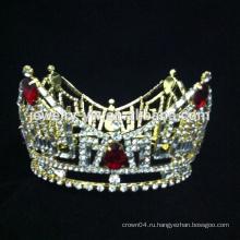Оптовые продажи кристалл свадебное тиара элегантный конкурс красоты короны