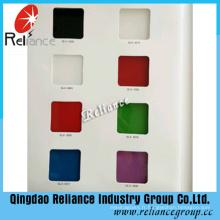 Verre peint de dos de 4mm / verre de couleur arrière / verre peint blanc / verre peint noir