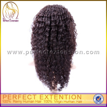 Hot Sale Natural Style Virgin Kinky Curl Human Kosher 100% Brazilian Hair Wig