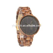 Мужская высокое качество бамбук деревянные часы японский движение часы