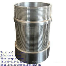 Water well Johnson wire wrap screen