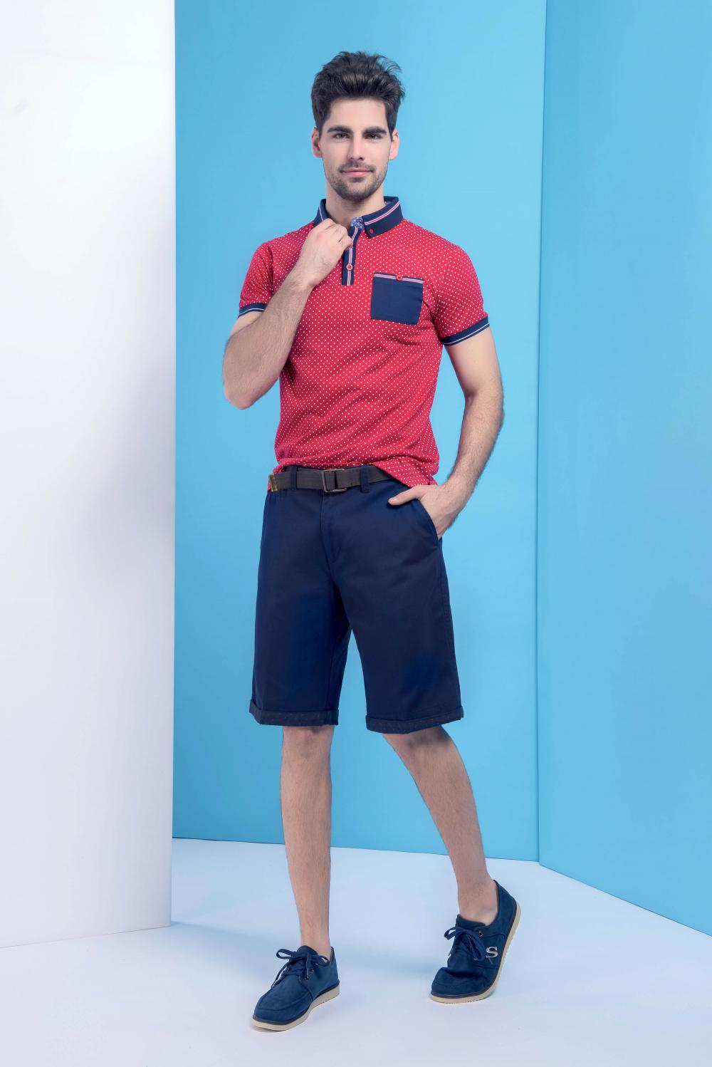 Men's cut and sewn golfer Polo
