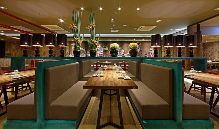 Modern Fast Food Wood Restaurant Furniture Seating Leather Booth5
