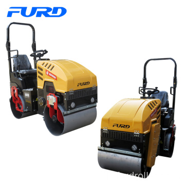 1000kg Mini Asphalt Road Rollers with 800mm Vibratory Drum Fyl-880