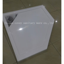 Diamond Polymarble Shower Tray with Grate (A-PM04)