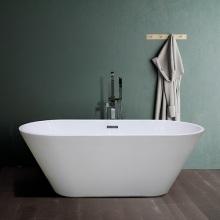 Bañera de acrílico independiente pequeña esquina de baño transparente