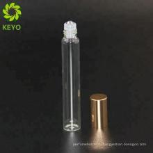 Стеклянная бутылка кручения ролл на белом роликовые бутылки эфирное масло 10мл контейнеры для духов ролл на