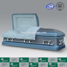 Casket Supplier LUXES 18ga Gasketed Metal Casket For Funeral