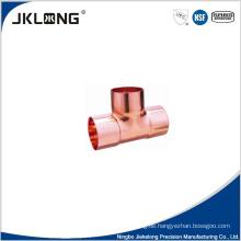 J9009 geschmiedet Kupfer gleich tee 1 Zoll Kupfer Rohrverschraubung