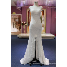 Front Slit Lace Mermaid Party Evening Bridal Wedding Gown