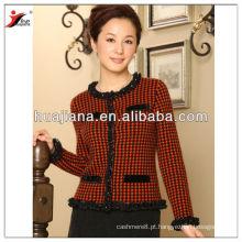 2017 casaco de malha de cashmere feminino de moda
