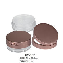 Round Plastic Loose Powder Case PC-157