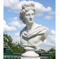 White Marble Lady Bust Statue For Sale
