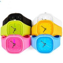 Yxl-989 Novo Genebra Quartzo Relógio De Pulso, Clássico Gel Candy Silicone Jelly Relógios