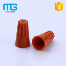 Conector de pcv de tornillo de plástico azul rentable