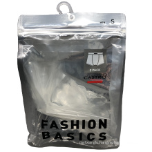 Customized  Clear Men Women Underwear Underpants Storage Bag for Clothes Bra With Hook