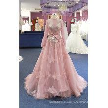 Длинный Рукав Розовый Свадебное Пром Вечернее Платье Платья