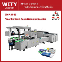 Automatic A4 paper cutting and wrapping machine