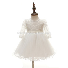 Latest Indian Children Chiffon Puffy Beading Knee-length Frocks for 0-2 Year Old Girl Dress Designs for Young Girls