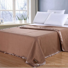 Hotel Bedding - Camel Color Wool Blanket