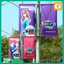 Street Banners Installed on Existing Street Lamp Poles