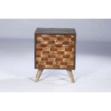 Retro Industrial Bedroom Furniture Vintage 3 Drawers Chest Night Stand