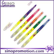 Marcador de caneta de plástico transparente