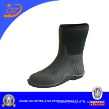 Sapatos de jardim de neoprene de meio bezerro confortáveis (80405)