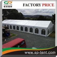 Tente de mariage en plein air 15x30m pour 300 sièges avec taille extensible
