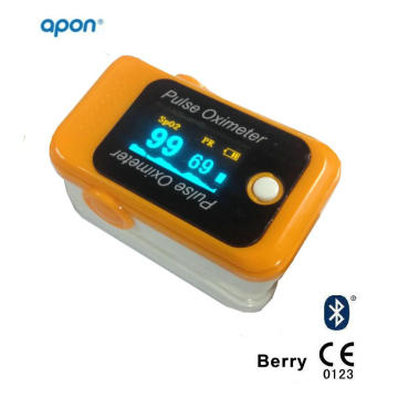 CE Bluetooth Finger Pulse Oximeter for iPhone and Android APP OLED for SpO2 Test Finger SpO2 Monitor Pulse Oximetry